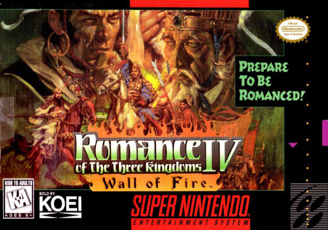 Carátula del juego Romance of the Three Kingdoms IV Wall of Fire (Snes)