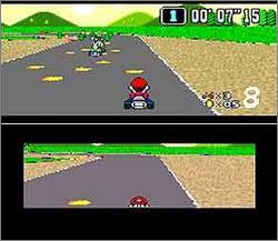 Pantallazo del juego online Super Mario Kart (Snes)
