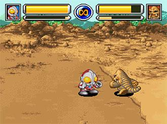 Pantallazo del juego online SD Ultra Battle Ultraman Densetsu (SNES)