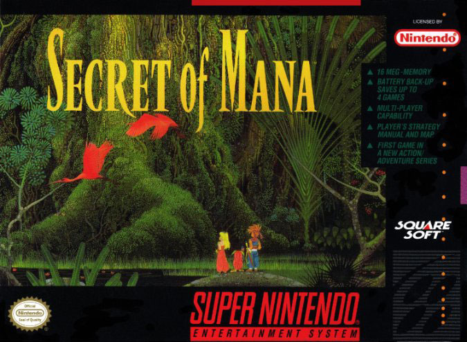 Carátula del juego Secret of Mana (Snes)