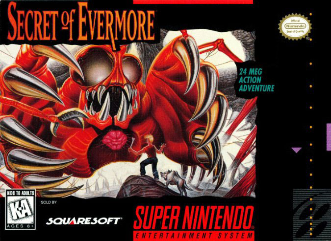Carátula del juego Secret of Evermore (Castellano) (Snes)
