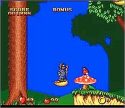 Pantallazo del juego online Snow White in Happily Ever After (Snes)