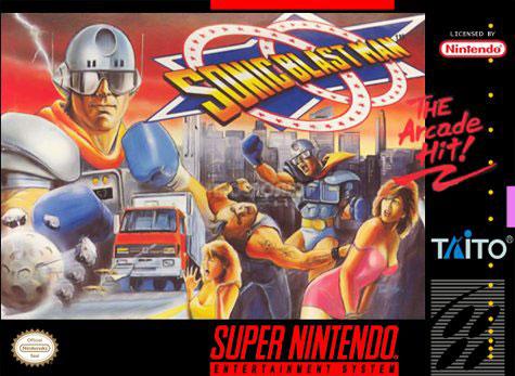 Carátula del juego Sonic Blast Man (Snes)