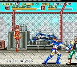 Pantallazo del juego online Sonic Blast Man (Snes)