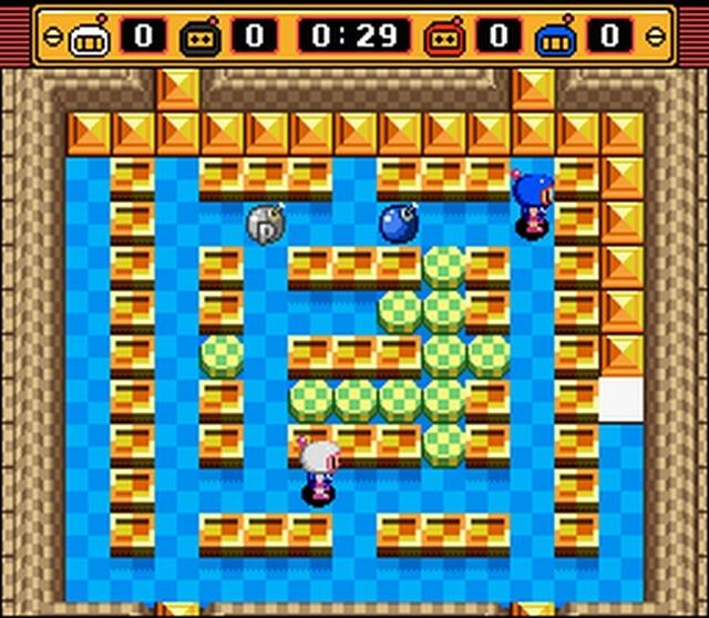Pantallazo del juego online Super Bomberman 2 (Snes)