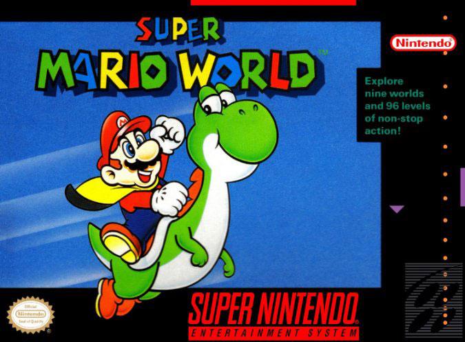 Carátula del juego Super Mario World (Snes)