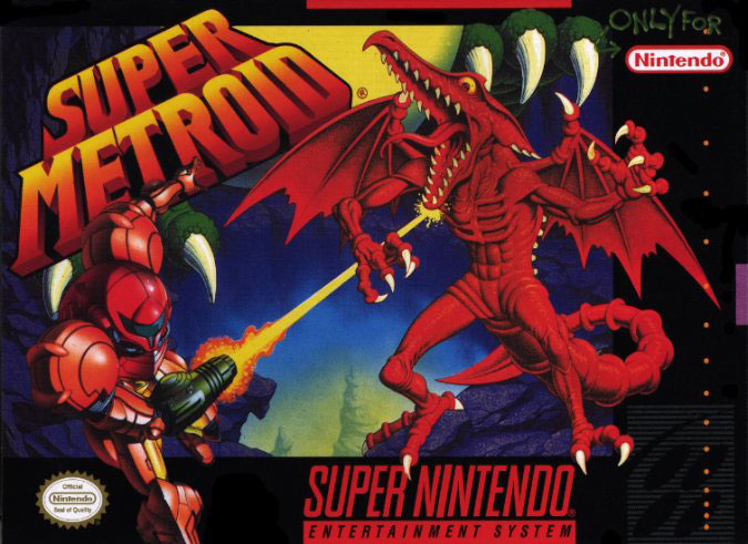 Portada de la descarga de Super Metroid