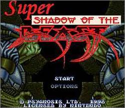 Carátula del juego Super Shadow of the Beast (Snes)