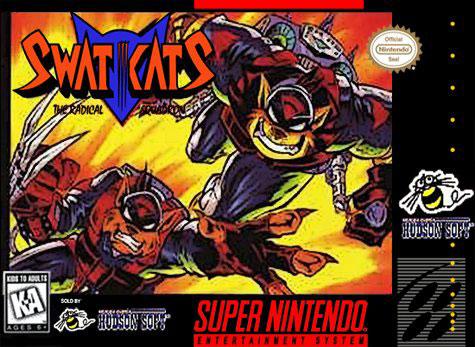 Carátula del juego SWAT Kats (Snes)