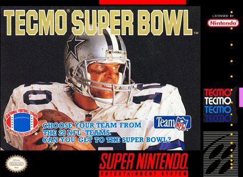 Carátula del juego Tecmo Super Bowl (Snes)