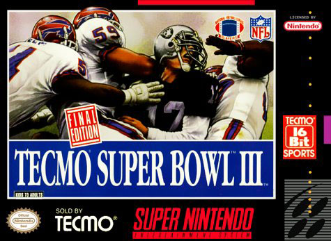 Carátula del juego Tecmo Super Bowl III Final Edition (Snes)