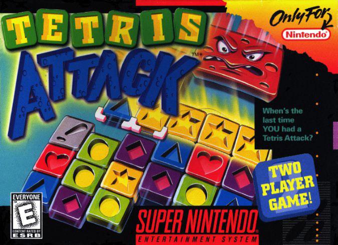 Carátula del juego Tetris Attack (Snes)