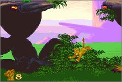 Pantallazo del juego online The Lion King (Snes)