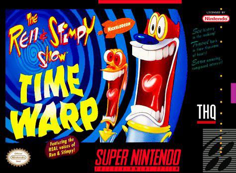 Carátula del juego The Ren & Stimpy Show Time Warp (Snes)
