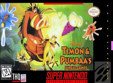 Carátula del juego Disney's Timon & Pumbaa's Jungle Games (Snes)