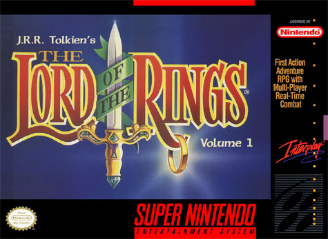 Carátula del juego JRR Tolkien's The Lord of the Rings - Volume 1 (Snes)