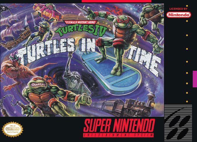 Carátula del juego Teenage Mutant Ninja Turtles IV Turtles in Time (Snes)
