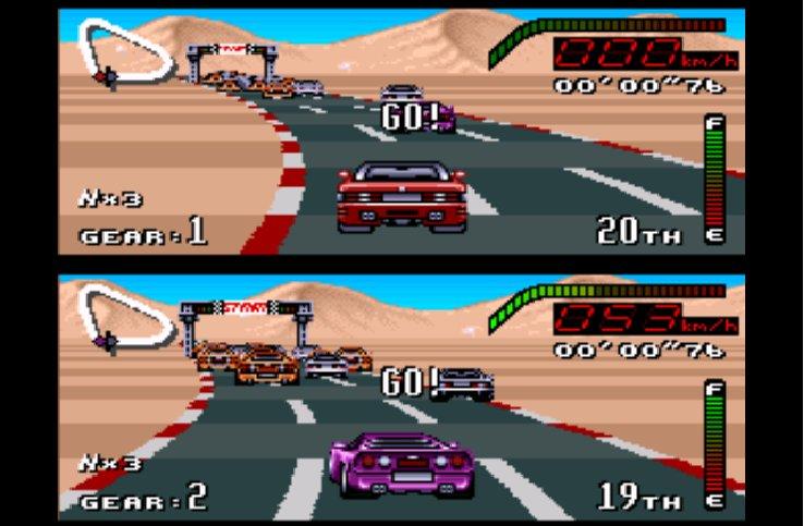 Pantallazo del juego online Top Gear (Snes)