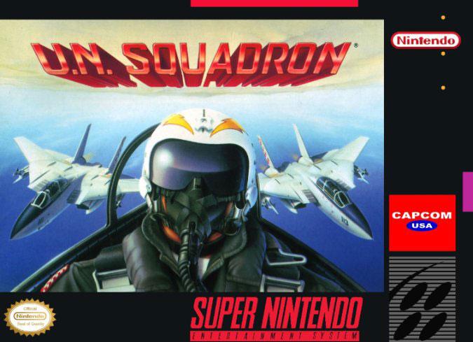 Carátula del juego UN Squadron (Snes)