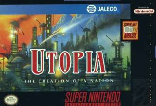 Carátula del juego Utopia The Creation of a Nation (Snes)