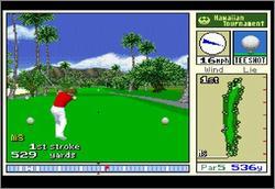 Pantallazo del juego online True Golf Classics Waialae Country Club (Snes)