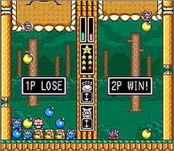 Pantallazo del juego online Wario's Woods (Snes)