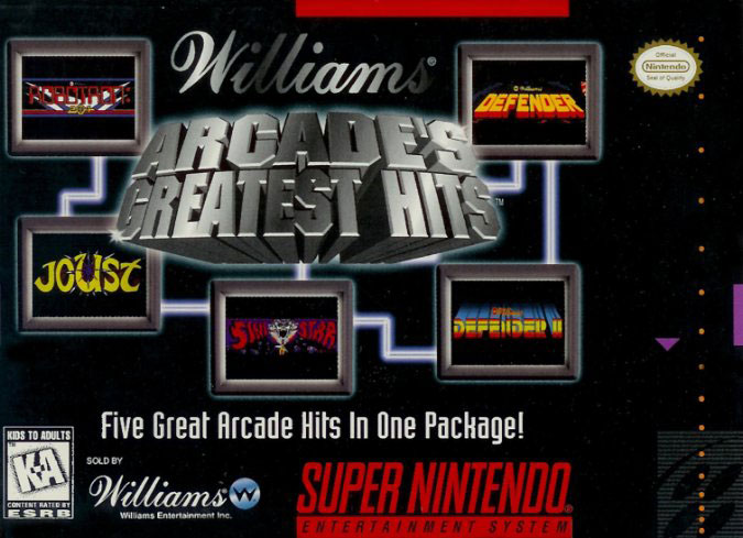 Portada de la descarga de Williams Arcade's Greatest Hits