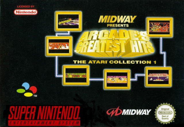 Carátula del juego Arcade's Greatest Hits - The Atari Collection 1 (Snes)