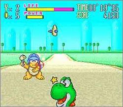 Pantallazo del juego online Yoshi's Safari (Snes)