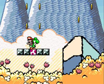 Pantallazo del juego online Super Mario World 2 - Yoshi's Island (Snes)
