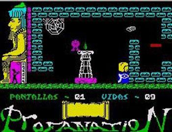Pantallazo del juego online Abu Simbel Profanation (Spectrum)