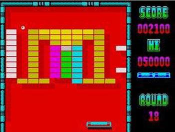 Pantallazo del juego online Arkanoid (Spectrum)