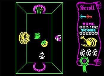 Pantallazo del juego online Atic Atac (Spectrum)
