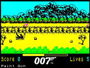 Pantallazo del juego online 007 The Living Daylights (Spectrum)