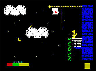 Pantallazo del juego online Sir Fred (Spectrum)